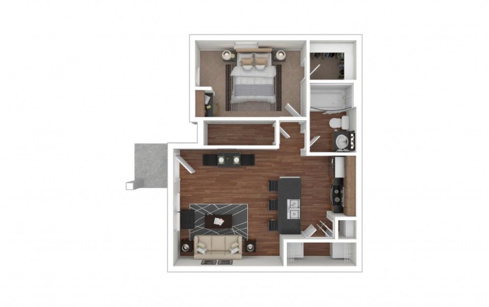 A1 - Bastrop 1 bedroom 1 bath 650 square feet