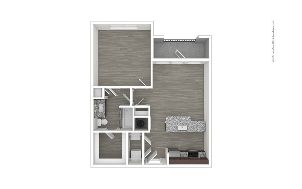 A2 - No Balcony 1 bedroom 1 bath 759 square feet (1)