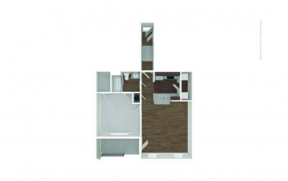 A1B 1 bedroom 1 bath 808 square feet (1)
