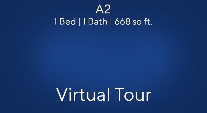 A2 Floor Plan, 1bed/1bath, 668 sq ft