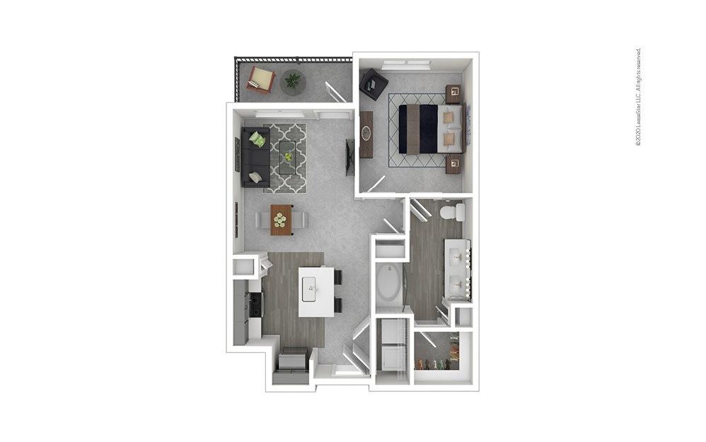 Alvarado 1 bedroom 1 bath 719 - 780 square feet