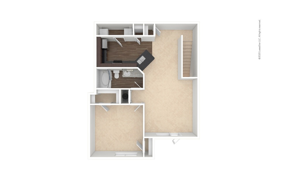 A2 1 bedroom 1 bath 951 square feet (1)