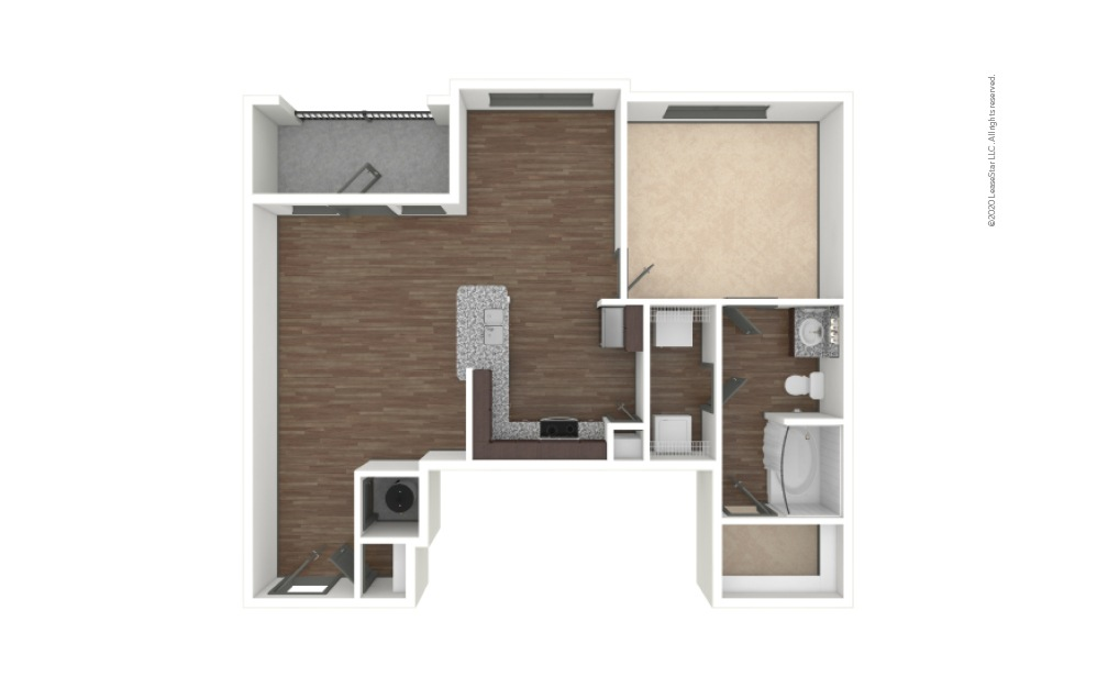 A2 1 bedroom 1 bath 836 square feet (1)