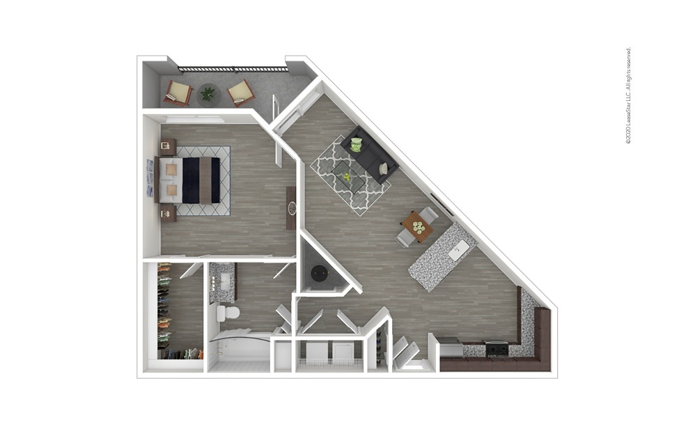 A5 1 bedroom 1 bath 981 square feet