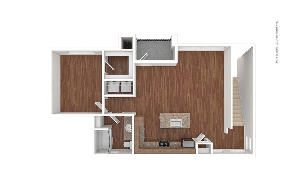 A3 1 bedroom 1 bath 990 square feet (1)
