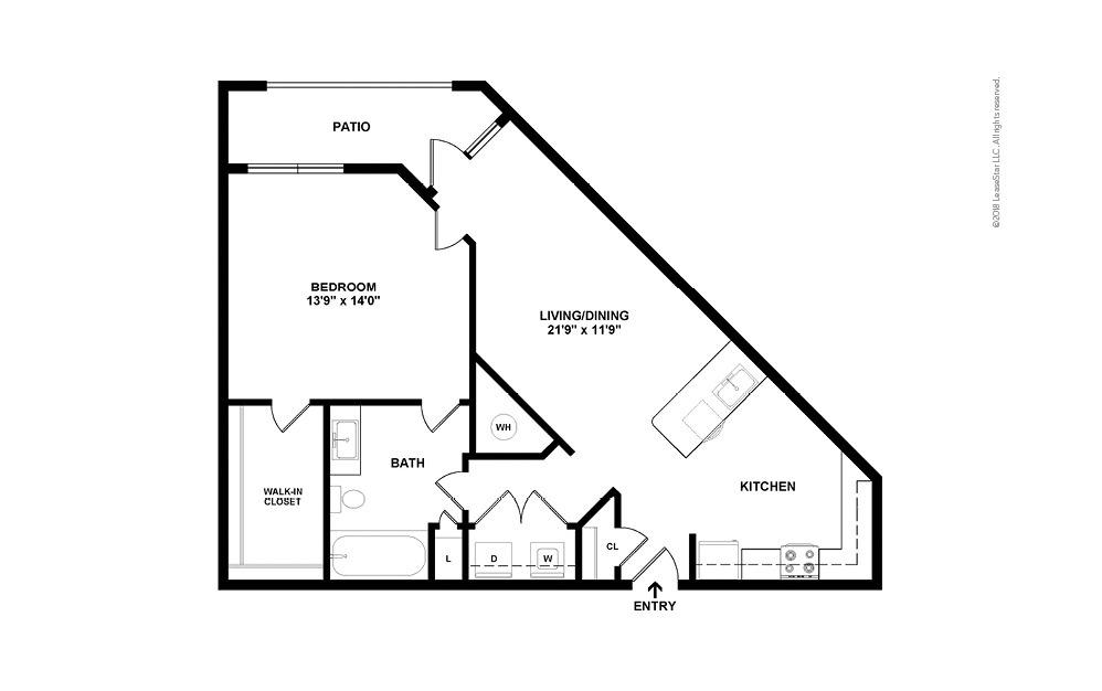 A5 1 bedroom 1 bath 981 square feet (2)