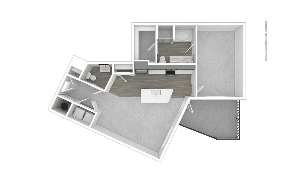 Alameda 1 bedroom 1 bath 919 square feet (1)