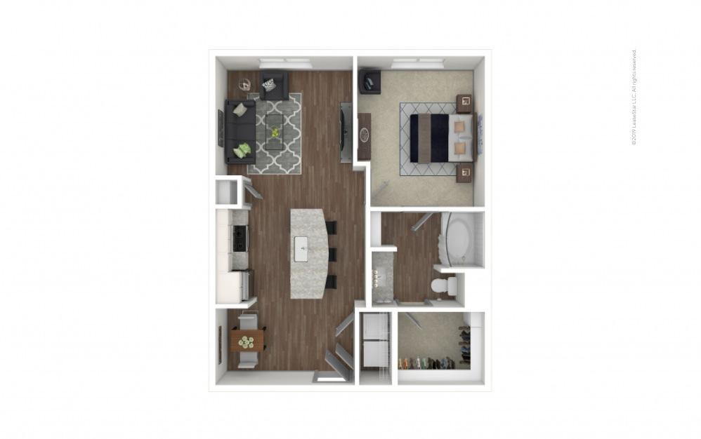 Castlewood 1 bedroom 1 bath 702 square feet
