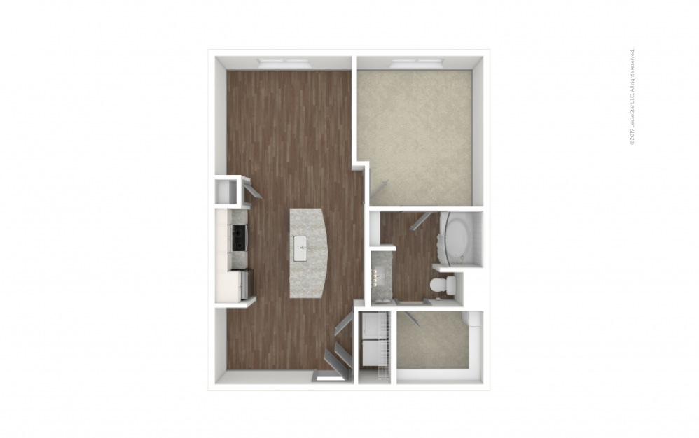 Castlewood 1 bedroom 1 bath 702 square feet (1)