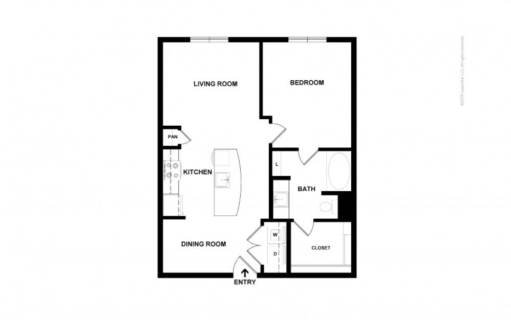 Castlewood 1 bedroom 1 bath 702 square feet (2)