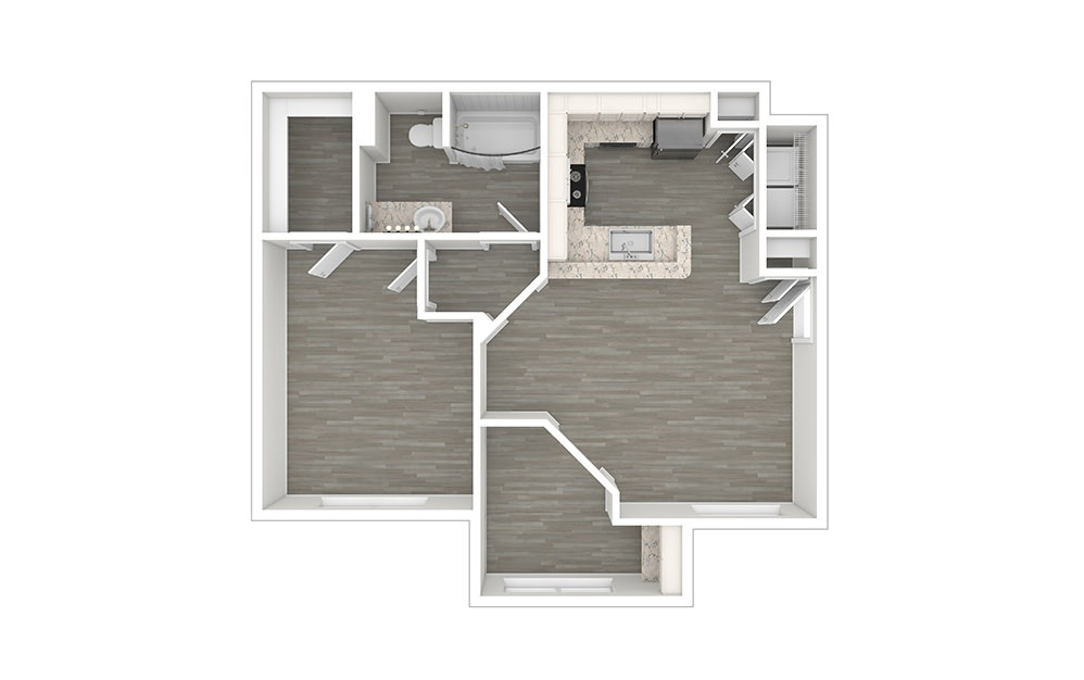 Houghton with Study 1 bedroom 1 bath 852 square feet (1)