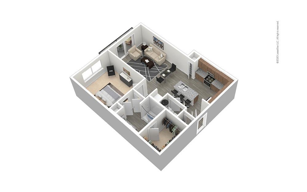 A7 Furnished Floor Plan Rendering