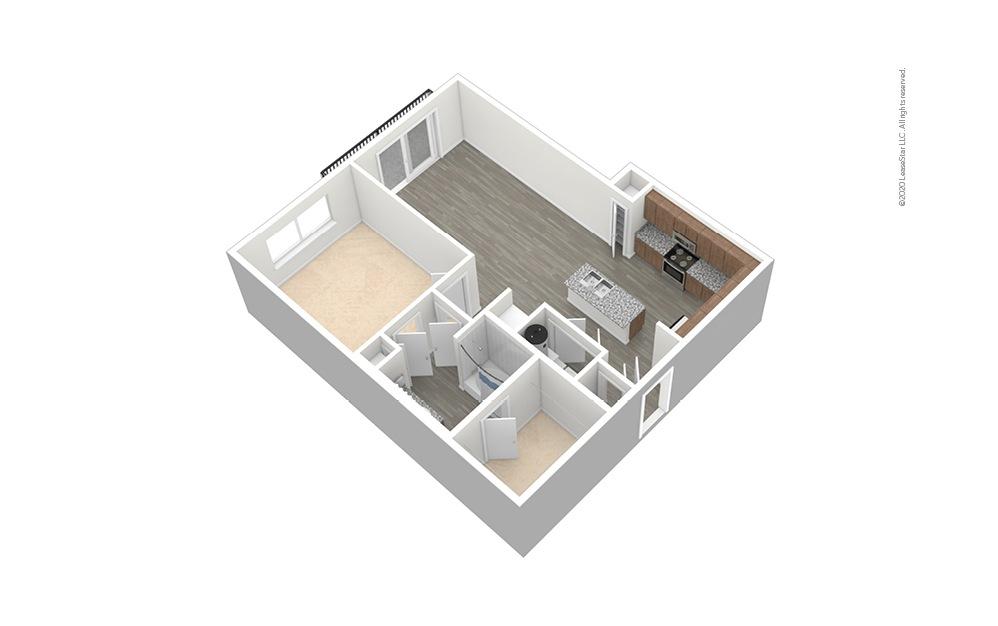 A7 Unfurnished Floor Plan Rendering
