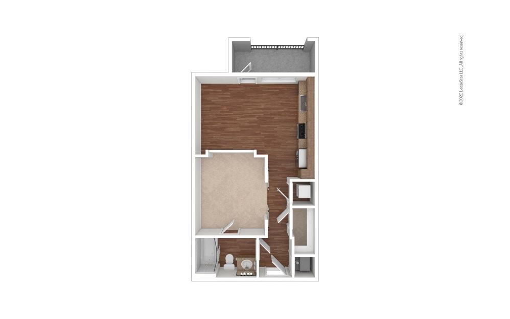 Aiken Studio 1 bath 576 square feet (1)