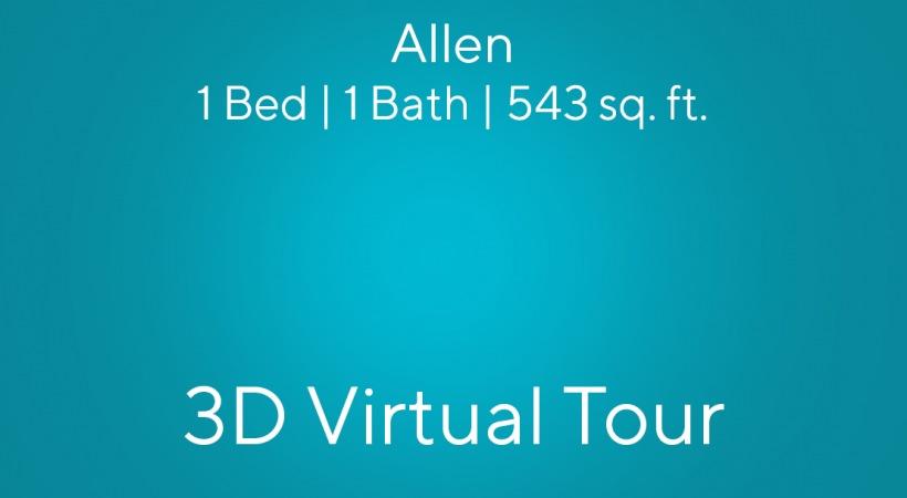 Allen Virtual Tour | 1 bed/1 bath