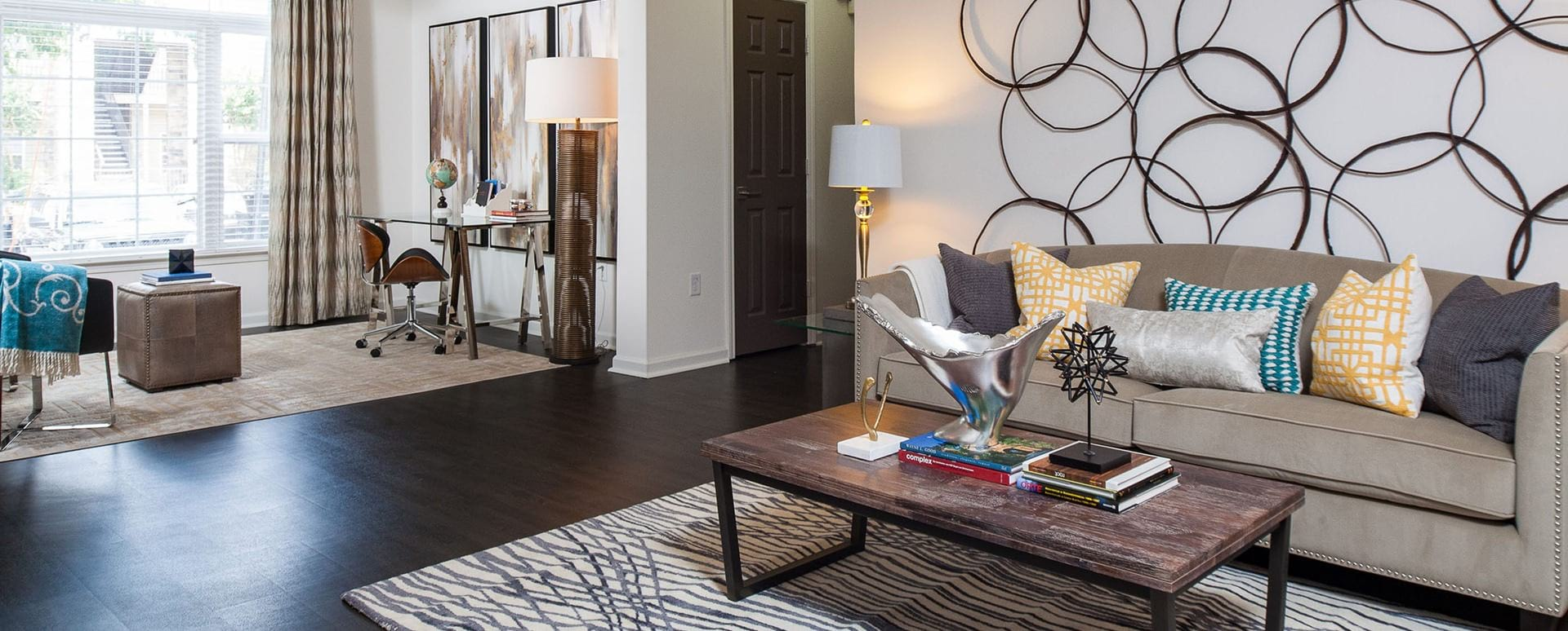 Open floor plan at apartments in Duluth, GA