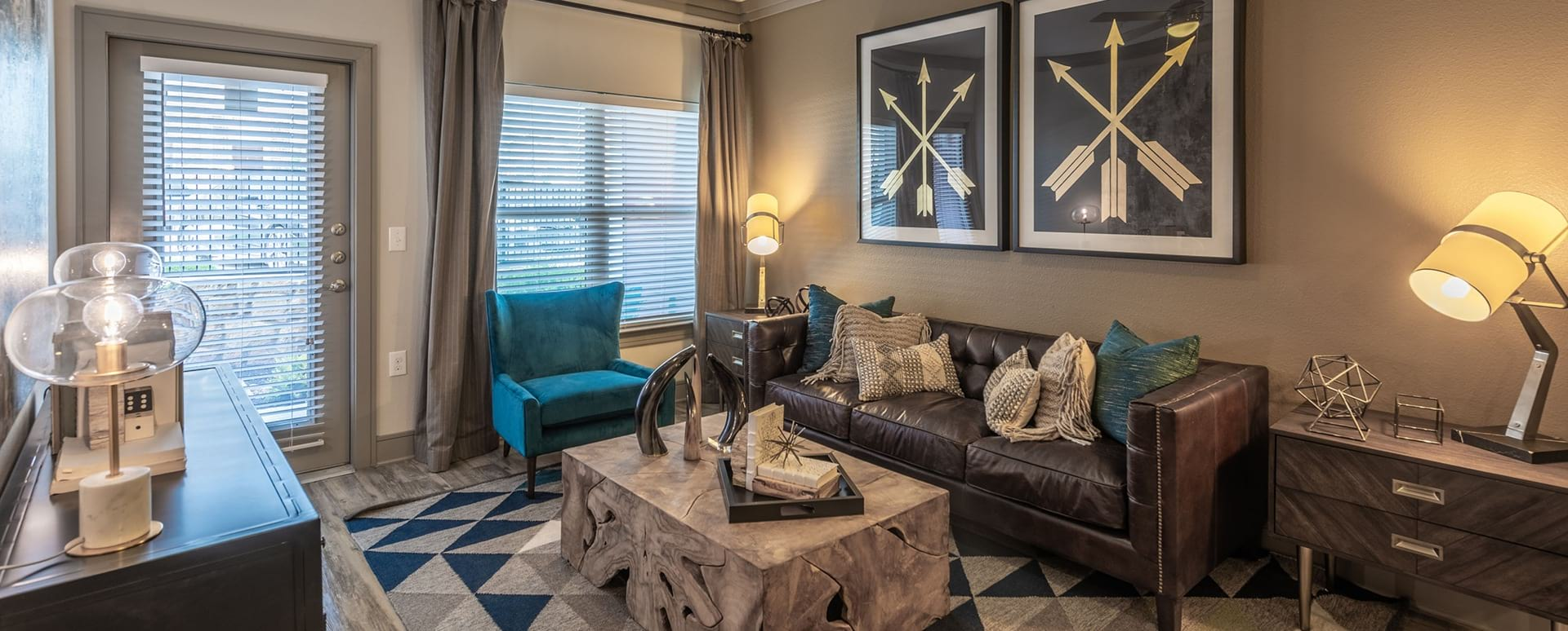 Spacious living space at Frisco apartments for rent