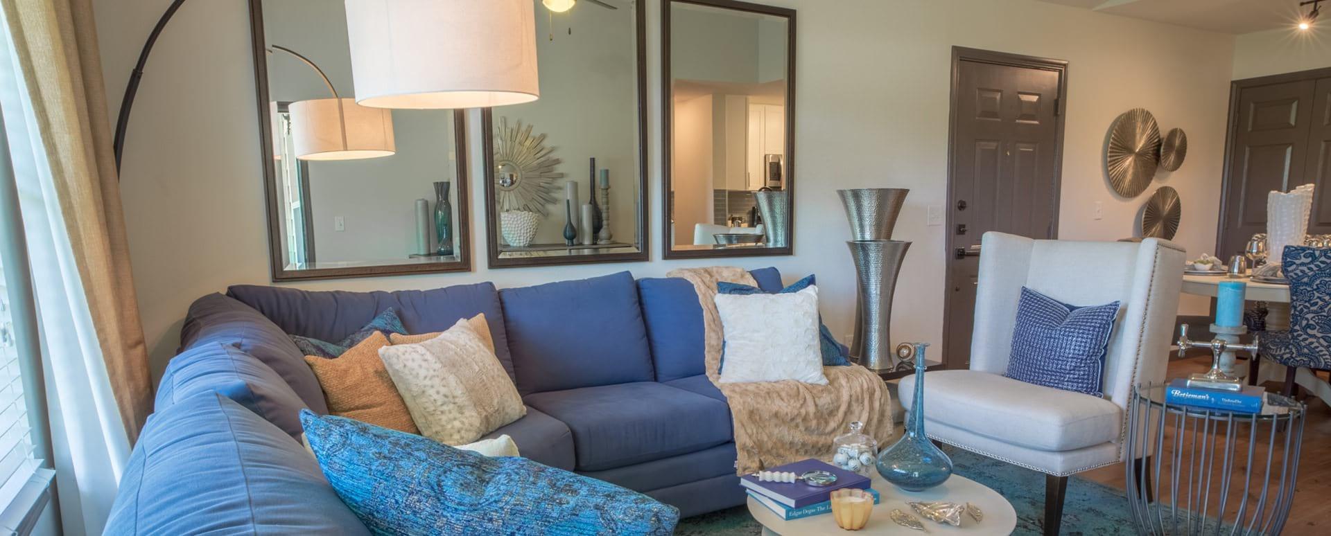 Spacious apartment floor plan at Attiva Denton