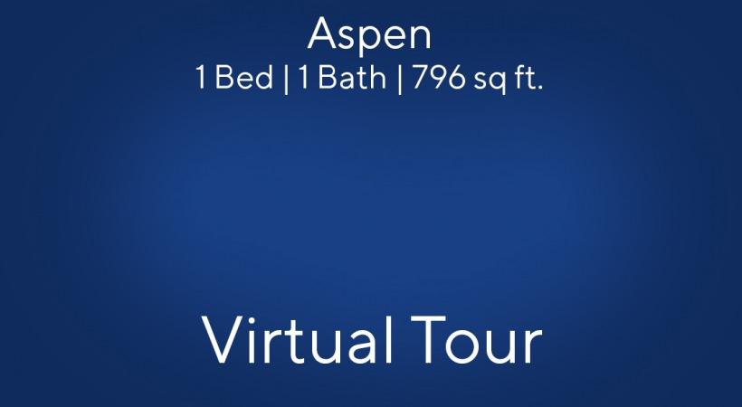 Aspen Floor Plan, 1bed/1bath, 796 sq ft