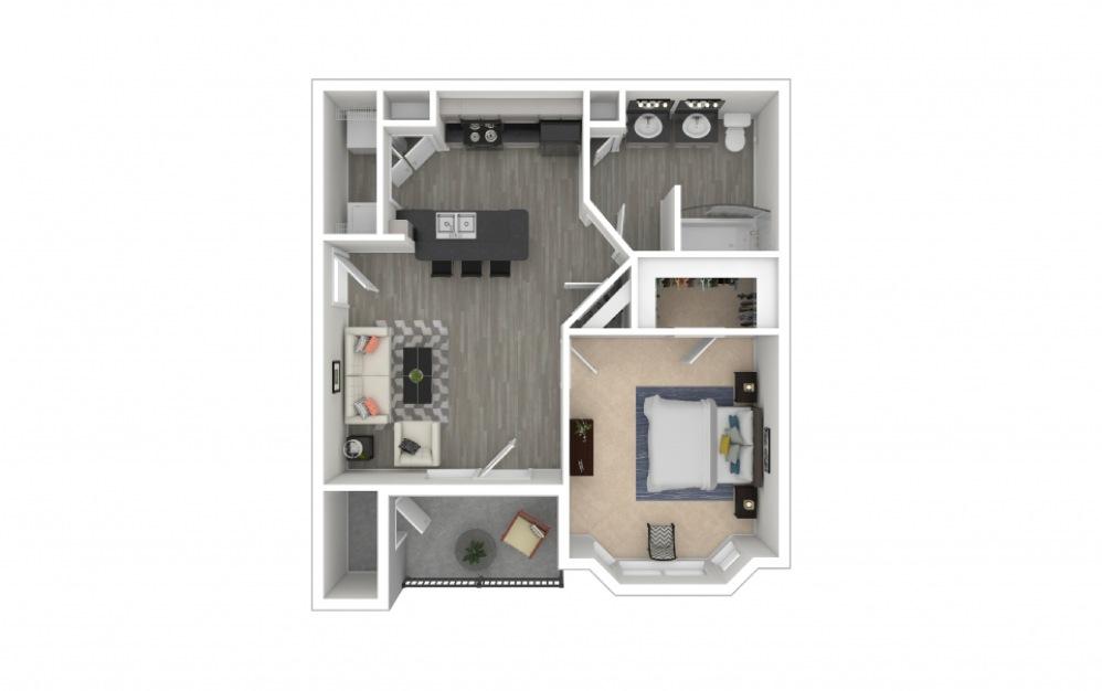 Autry 1 bedroom 1 bath 643 square feet