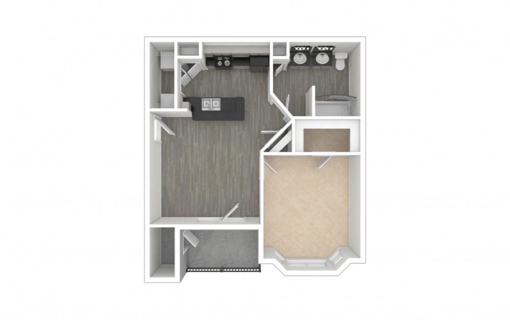 Autry 1 bedroom 1 bath 643 square feet (1)