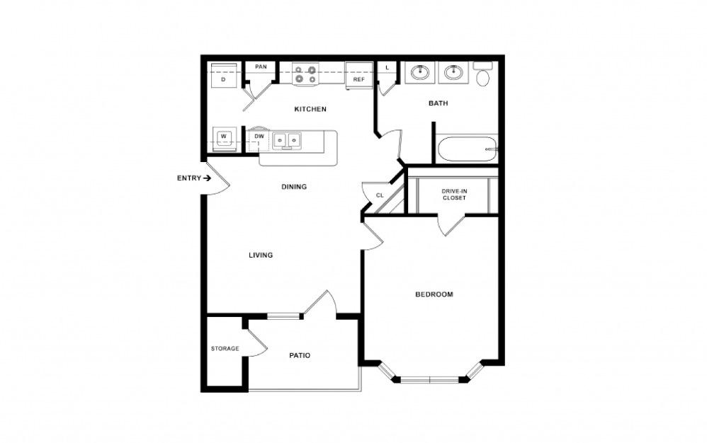 Autry 1 bedroom 1 bath 643 square feet (2)