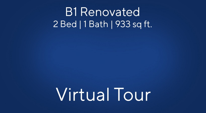 B1 Renovated Virtual Tour | 2 Bed/1 Bath