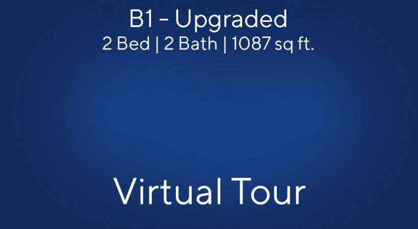 B1 (Upgraded) Floor Plan, 2bed/2bath, 1087 sq ft