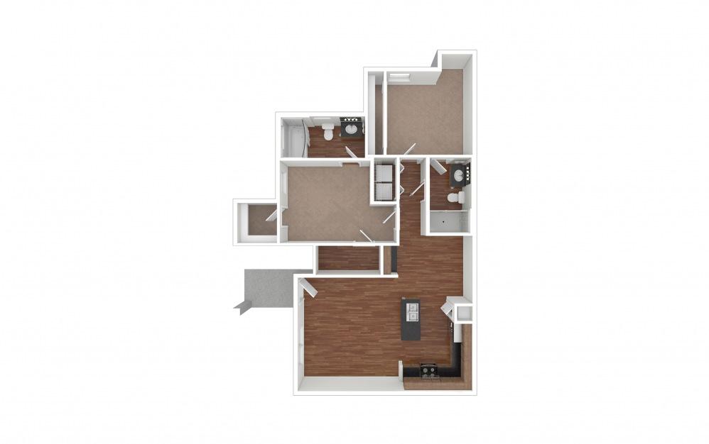 B1 - Texoma 2 bedroom 2 bath 956 square feet (1)