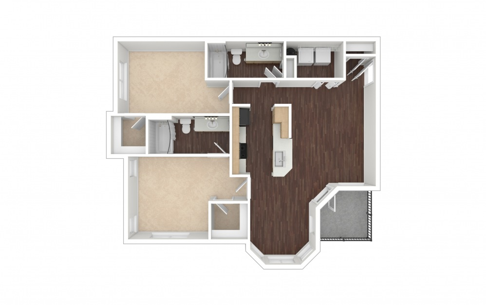 B1a 2 bedroom 2 bath 1135 square feet (1)