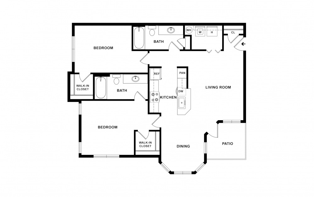 B1a 2 bedroom 2 bath 1135 square feet (2)