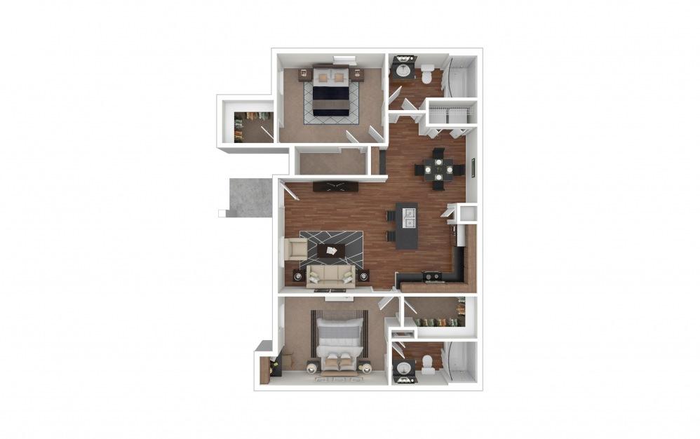 B2 - Grapevine 2 bedroom 2 bath 1031 square feet