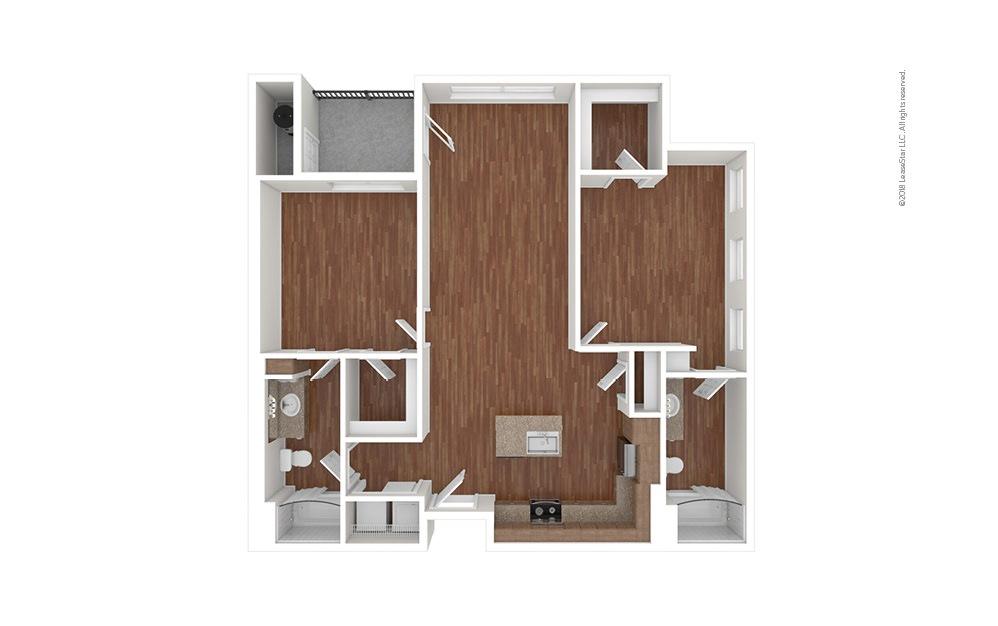 B2 2 bedroom 2 bath 1103 square feet (1)