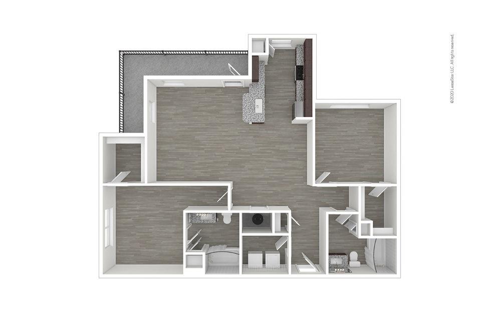 B2 2 bedroom 2 bath 1243 square feet (1)