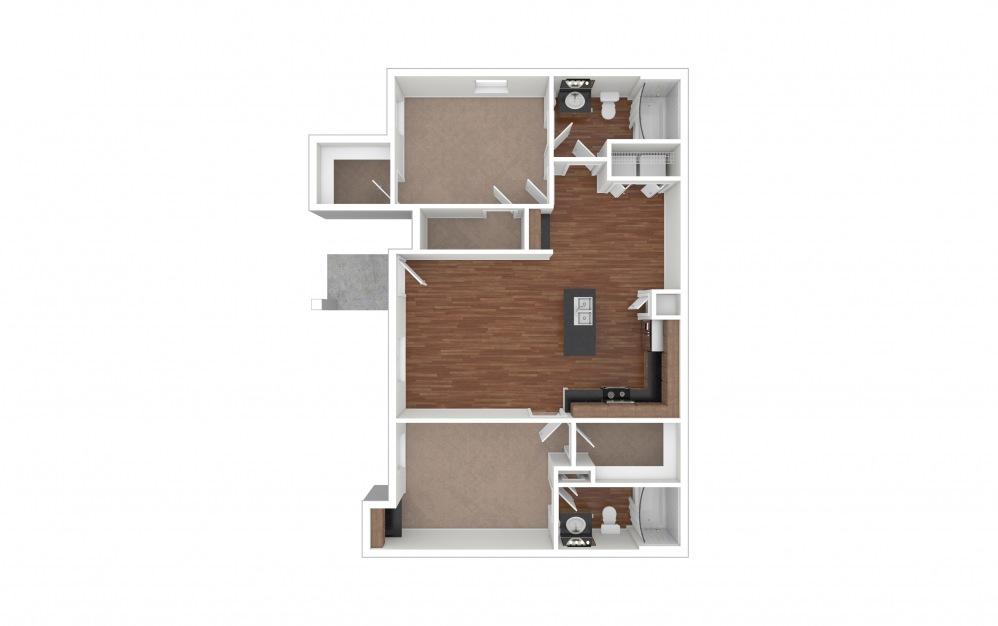 B2 - Grapevine 2 bedroom 2 bath 1031 square feet (1)
