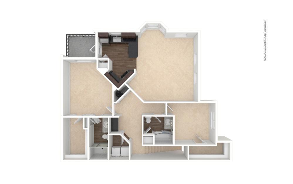 B3A 2 bedroom 2 bath 1436 square feet (1)
