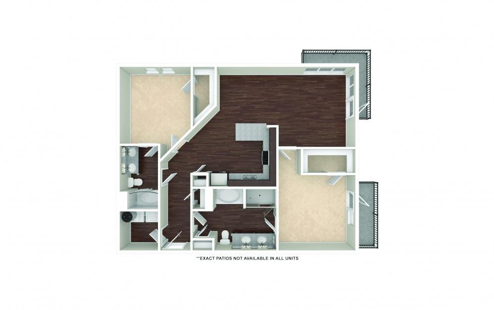 B6-B7 2 bedroom 2 bath 1260 - 1304 square feet (1)