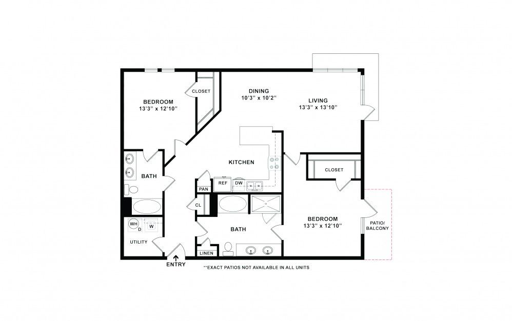 B6-B7 2 bedroom 2 bath 1260 - 1304 square feet (2)
