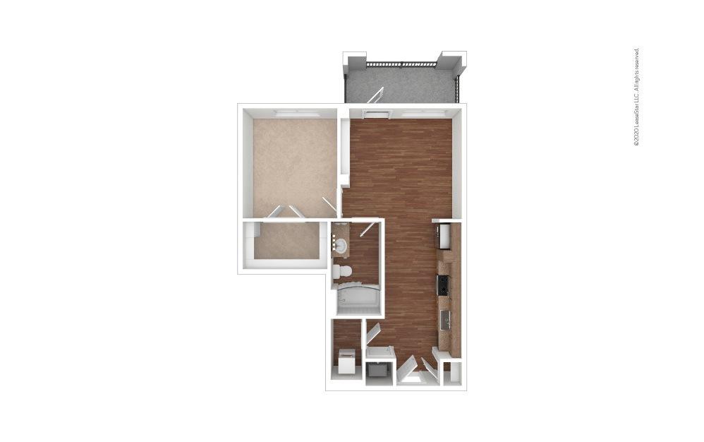 Bishop Studio 1 bath 671 square feet (1)