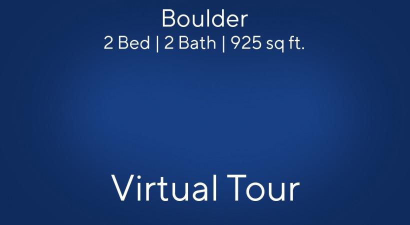 Boulder Floor Plan, 2bed/2bath, 925 sq ft.