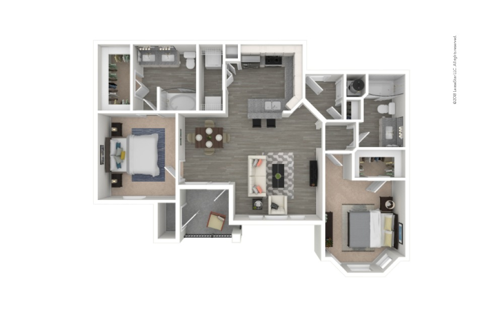 B2 - Bradshaw 2 bedroom 2 bath 1019 square feet