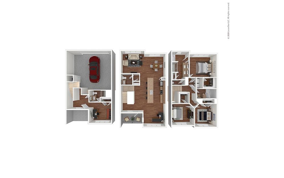 C1 Floor Plan Furnished