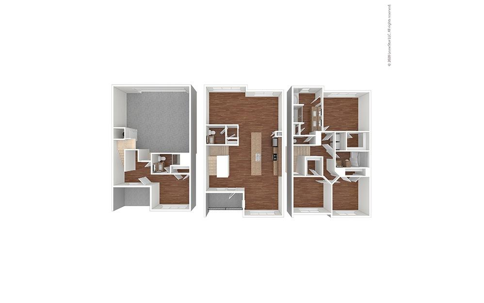 C1 Floor Plan Vacant