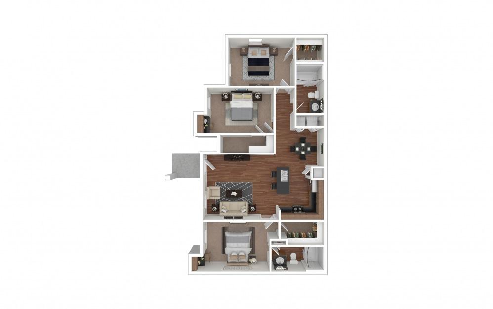 C1 - Sweetwater 3 bedroom 2 bath 1191 square feet