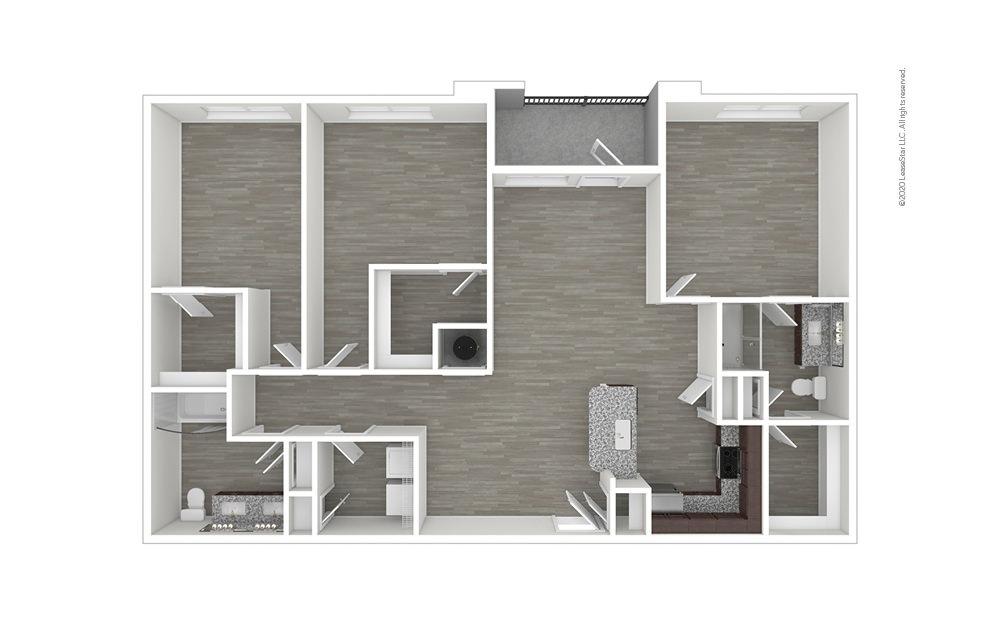 C1 3 bedroom 2 bath 1420 square feet (1)