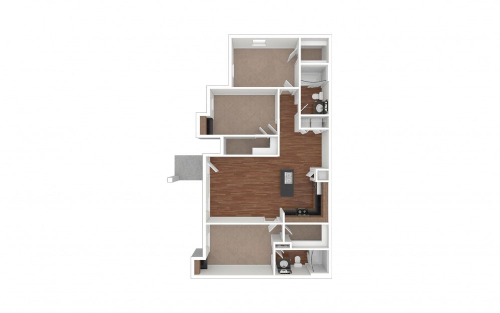 C1 3 bedroom 2 bath 1191 square feet (1)