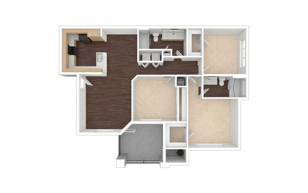 C1a 3 bedroom 2 bath 1421 square feet (1)