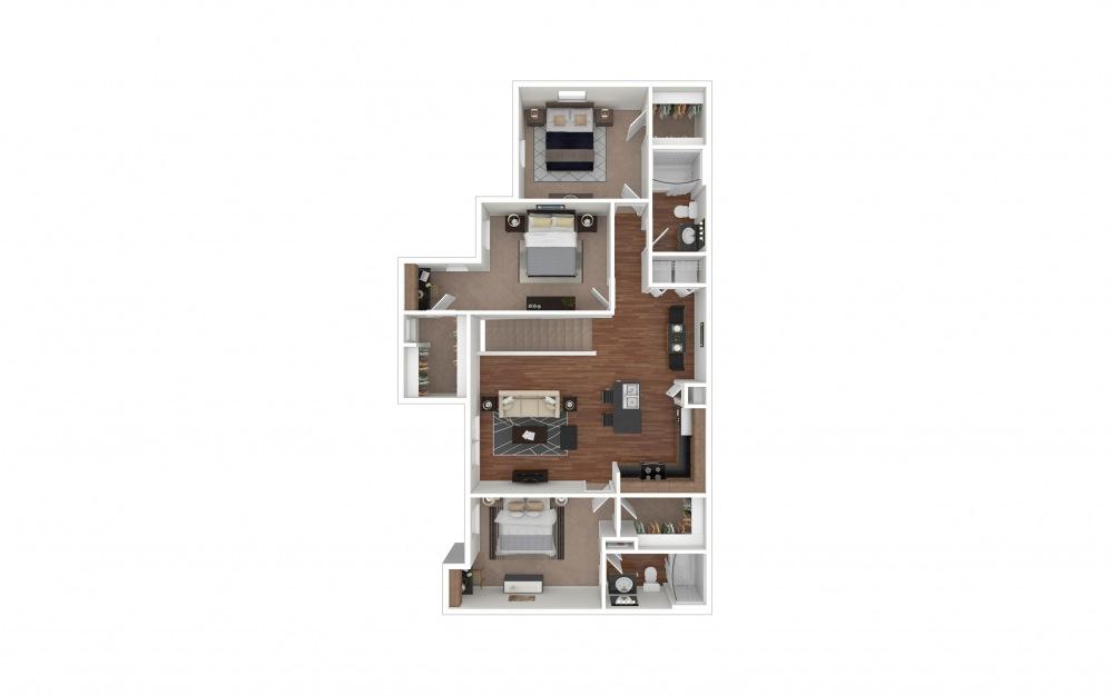 C2 - Arrowhead 3 bedroom 2 bath 1334 square feet