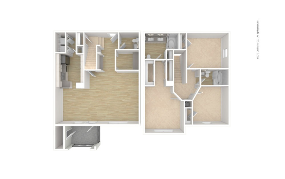 C2 - Townhome 3 bedroom 2.5 bath 1570 square feet (1)