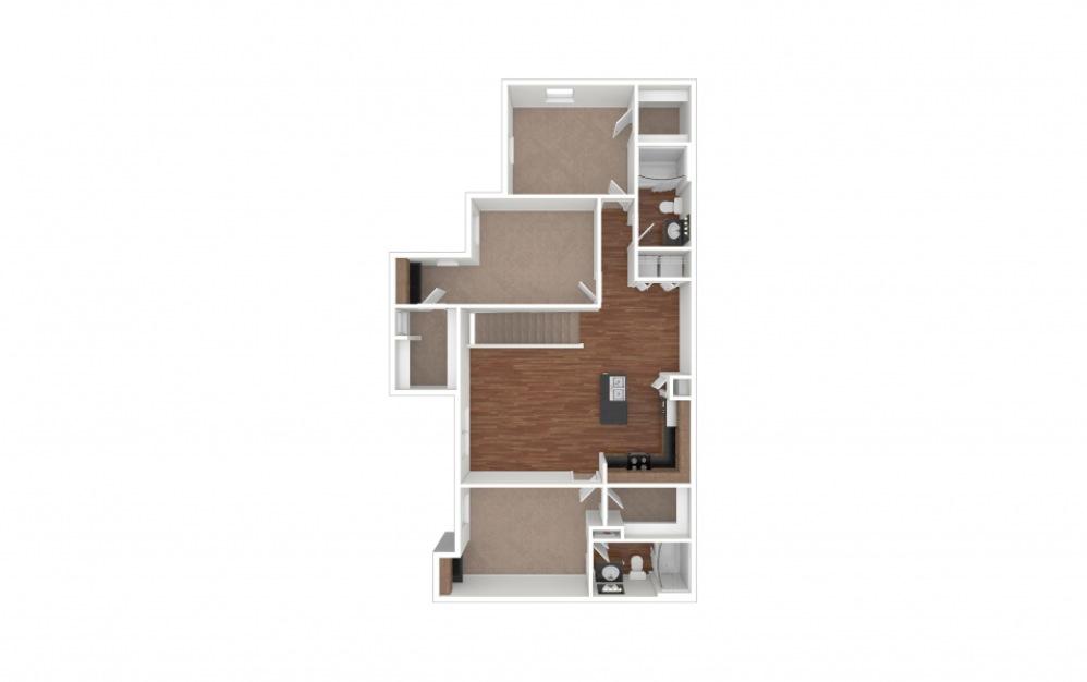 C2 - Arrowhead 3 bedroom 2 bath 1334 square feet (1)